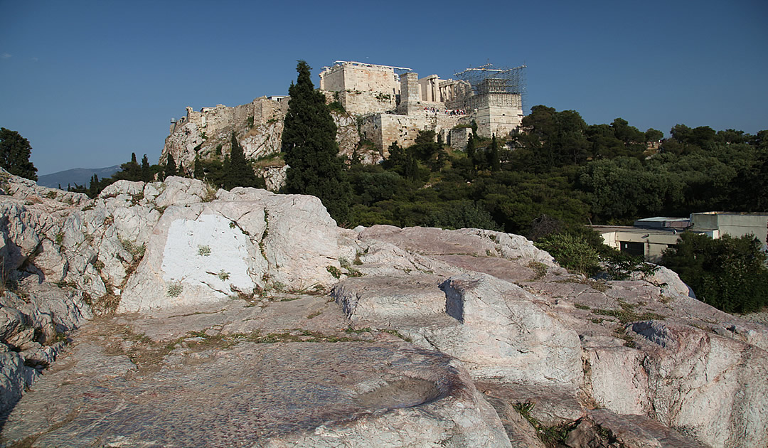 View of Parthenon from Mars Hill